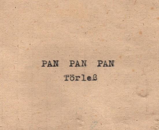 Törleß - PAN PAN PAN